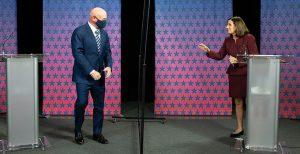 Mark Kelly and Republican Sen. Martha McSally