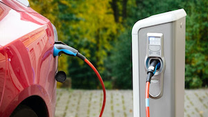 electric car and charger